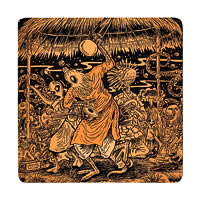 Posterboy Charbak Alien Lalon Coasters - set of 4