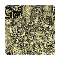Posterboy Charbak Alien Durga Puja Coasters - set of 4