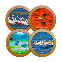 Hot Muggs Wild Focus Coasters - Beautiful Birds - set of 4