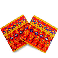 Kolorobia Colourful Ikat Wooden Coasters - set of 4