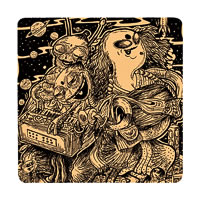 Posterboy Charbak Alien Eunuchs Coasters - set of 4