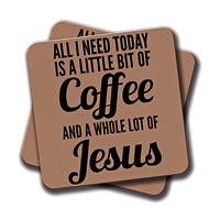 Amey Coffee and Jesus Coasters - set of 2