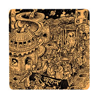 Posterboy Charbak Alien Ponchishey Boishakh Coasters - set of 4