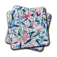 Amey Colourful Bird Coasters - set of 2