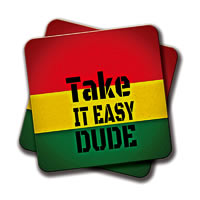 Amey Take it Easy Coasters - set of 2