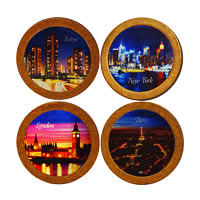 Hot Muggs Citylights Coasters - set of 4