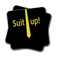 Amey Suit Up Coasters - set of 2