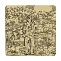Posterboy Charbak Lokayata Coasters - set of 4