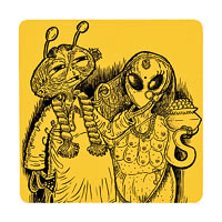 Posterboy Charbak Alien Babu Coasters - set of 4