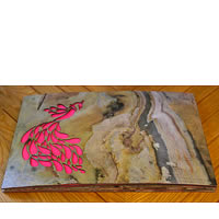 Amalgam The Dandy Peacock Rectangular Placemats (Pink) - set of 6