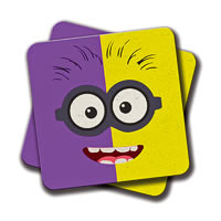 Amey Half Evil Coasters - set of 2