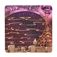 Posterboy Charbak Sky-Lid Opens Coasters - set of 4