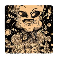 Posterboy Charbak Alien Thalaivar Coasters - set of 4