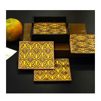 Amalgam Peek-a-Boo Coasters (Yellow) - set of 4