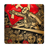 Posterboy Charbak Comrade Alien Coasters - set of 4