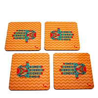 Twirly Tales Ethnic Hands Series Coasters - set of 4