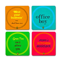 MadCap Unemployed Cork Coasters - set of 4