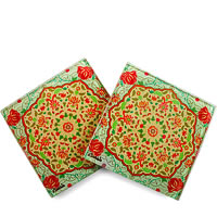 Kolorobia Exquisite Mughal Glass Coasters - set of 4