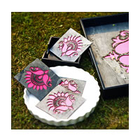 Amalgam The Lively Lotus Coasters (Pink) - set of 4