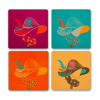 MadCap Bohemian Cork Coasters - set of 4
