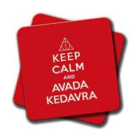 Amey Keep Calm and Avada Kedavra Coasters - set of 2