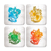 Warner Brothers Harry Potter School Crest Coasters - set of 4