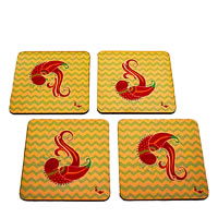 Twirly Tales Dancing Birds Series Coasters - set of 4