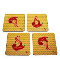 Twirly Tales Dancing Birds Series Coasters - set of 4