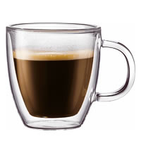 Bodum Bistro Double Wall Espresso Mug, Small 150 ml - set of 2