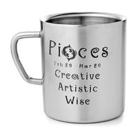 Mosaic Pisces Zodiac Sign Mug