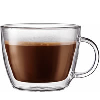 Bodum Bistro Double Wall Cafe Latte Cup, Large 450 ml - set of 2