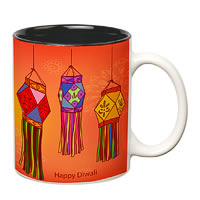Prithish Diwali Design 4 Double Color Mug