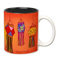 Prithish Diwali Design 4 Double Color Mug