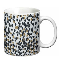 Prithish Abstract Design 25 White Mug
