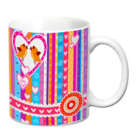 Prithish Abstract Design 38 White Mug