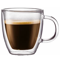 Bodum Bistro Double Wall Mug, Medium 300 ml - set of 2