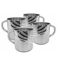 Hot Muggs Swirls N Twirls Mugs - set of 4