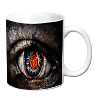 Prithish Scary Eyes White Mug
