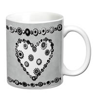 Prithish Abstract Design 18 White Mug