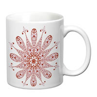 Prithish Abstract Design 17 White Mug