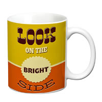 Prithish Look On The Bright Side White Mug