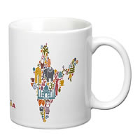 Prithish India Map White Mug