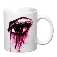 Prithish Teary Eyes White Mug