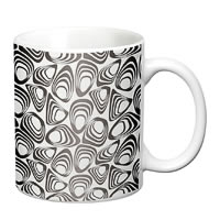 Prithish Abstract Design 14 White Mug