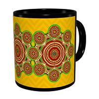 Kolorobia Madhubani with Yellow Aura Classic Black Mug