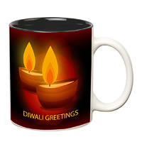Prithish Diwali Design 2 Double Color Mug
