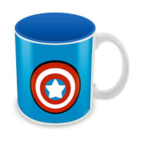 Marvel Kawaii - Captain America Logo Ceramic Mug