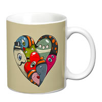 Prithish Abstract Design 20 White Mug