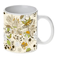 Prithish Floral With Birds White Mug