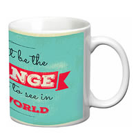 Prithish You Must Be The Change White Mug